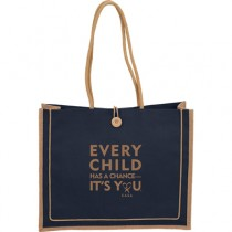 ECHAC Jute Button Tote - Only have 22 of red available until 10-14-19