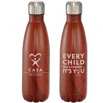 TX CASA Native Wooden Copper Vacuum Insulated Bottle 17oz