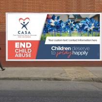 Custom Child Abuse Prevention Pinwheel Vinyl Banner